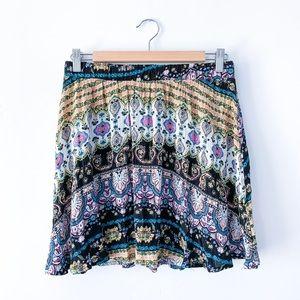 LA Hearts Boho Floral Skirt